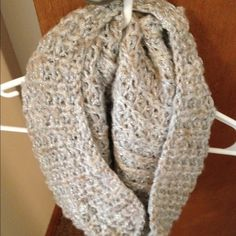 Express sparkly cowl knit scarf Express cowl scarf Express Accessories Scarves & Wraps