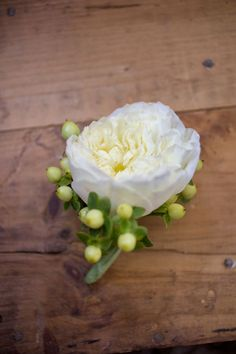 Cream Garden Rose Boutonniere Photograph By SoftBox Media Photography  Http://www.storyboardwedding