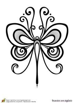 Dessin à colorier d'un magnifique papillon - Hugolescargot.com