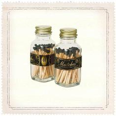 Mini Black Gold Matches by Skeem Design..013