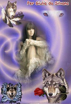 Donna e lupi