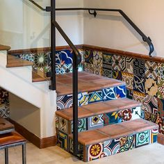 Featuring a fun start to the week with @vparchitectures stylish design using @walkerzangers patterned #tile! // #architecture #designhounds #designer #designinterior #homeinterior #homedesign #instadesign #interiordesign #interiors #interiorinspo #idcdesigners #stairs #staircase #steps #tileometry #teamtile #tiles #tiled #tilecrush #tileaddiction #tiledesign #tilelove #tilestyle #tilework #whytile