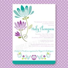 Invitation with Envelope from H.L.R. Designs