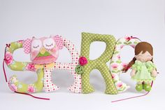 Sew letters with felt owl and cute doll Szyte literki z sówka i laleczką Cute Dolls, Baby Blankets, Baby Shoes, Owl, Letters, Sewing, Kids, Home Decor, Young Children