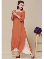 China Ethos Linen Show Slim Dress