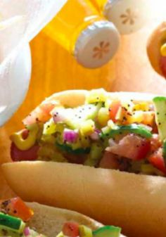 Chicago Style Hot Dogs . The ultimate barbecue recipe with all the trimmings.