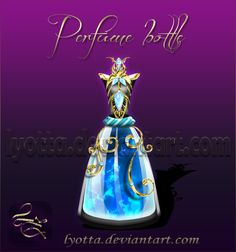 Perfume Bottle Lyotta 9 by Lyotta.deviantart.com on @DeviantArt