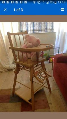 Before rather battered combelle highchair