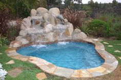 landscaped small pool