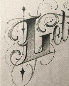 L--- Source tattoo designs, tattoo, small tatt Tattoo Lettering Design, Typography Drawing, Chicano Lettering, Graffiti Lettering Fonts, Calligraphy Drawing, Hand Lettering Fonts, Calligraphy Letters, Typography Letters, Tattoo Fonts