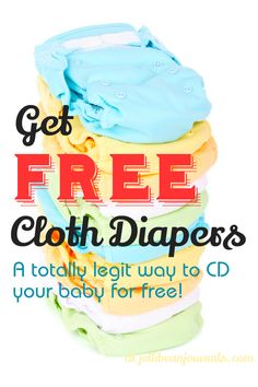 How to get FREE Cloth Diapers- a totally legitimate way to snag freebies. #clothdiapers | JellibeanJournals.com