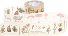 wide mt Washi Masking Tape deco tape with plants