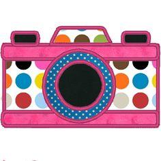 Camera Embroidery Applique File. $2.00, via Etsy.
