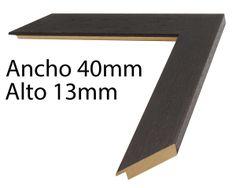 Detalle de la moldura 20727 -Plana de 4 cm de ancho.