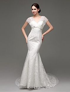 The butterfly section waistband  Evening Dress  Straps Sweep/Brush Train Wedding Dress