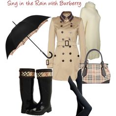 Rain Outfit by Burberry#Repin By:Pinterest++ for iPad#