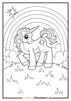 Little Unicorn by Annzabella Coloring book. Little unicorn from fairy tale about the princess Unicorn Coloring Pages, Cute Coloring Pages, Animal Coloring Pages, Free Printable Coloring Pages, Adult Coloring Pages, Coloring Pages For Kids, Coloring Sheets, Coloring Books, Unicorn Printables
