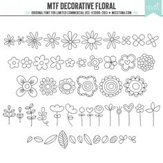 MTF Decorative Floral ·CU· - 52 doodled characters in this cute flowery font!