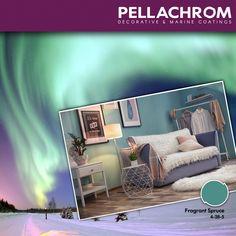 Οι κυματίζουσες «ουράνιες κουρτίνες» του εκπληκτικού Σέλα μας εμπνέουν να φέρουμε τα μαγευτικά του χρώματα στο δωμάτιο μας!   😲🙄😃 #pellachrom #colors #paints #interior #goals #december #aurorahues #christmasvibes #colorseverywhere No Time For Me, Color Combinations, Flat Screen, December, Decor, Rome, Color Combos, Blood Plasma, Decoration