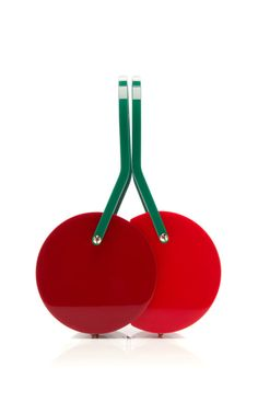 Shop Cherry On Top Satchel by Charlotte Olympia for Preorder on Moda Operandi