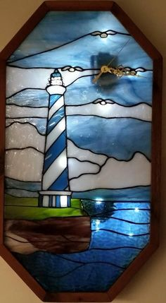 Lighthouse Clock - from Delphi Artist Gallery by Bennett's Glass and Woodcrafts