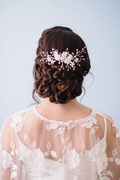 DIY Braided Chignon bridal hair tutorial | Photo by  Jennifer Fujikawa Photography | 100 Layer Cake