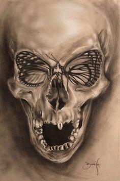 """Skulls: #Skull ~ """"ButterSkull Art Print,"""" by The Art of Him."""