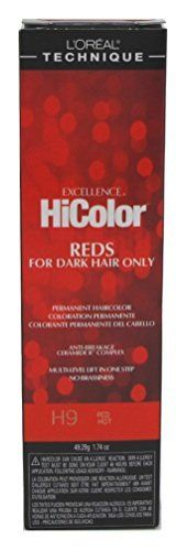 Loreal Excel Hicolor H09 Tube Red Hot 1.74oz (6 Pack) -- You can find out more details at the link of the image.