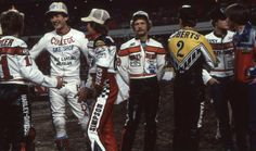 AMA Motorcycle Museum Hall of Fame: Scotty Parker, Ted Boody, ???, Jay Springsteen, Kenny Roberts, Randy Goss, and Terry Poovey