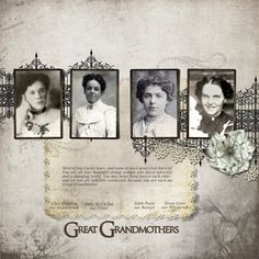 4 grandmothers...great idea