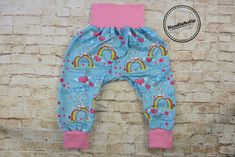 Hose Babyhose Pumphose 56 62 68  pink lila Smiley Jersey