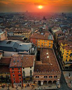 Sunset from Verona - Italy…