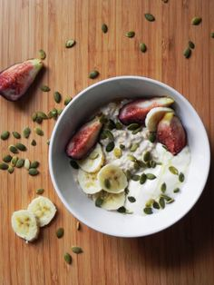 Fig and Honey Bircher Muesli in Coconut milk.