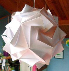 Tuto origami lamp #origami