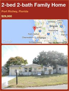2-bed 2-bath Family Home in Port Richey, Florida ►$29,000 #PropertyForSale #RealEstate #Florida http://florida-magic.com/properties/82015-family-home-for-sale-in-port-richey-florida-with-2-bedroom-2-bathroom
