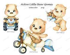 New Year Clipart, Bear Clipart, Hand Images, Types Of Packaging, Baby Clip Art, Watercolor Images, Cute Bears, Cute Kids, Poster Prints