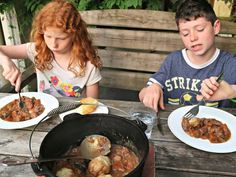 I believe teaching kids to cook is an essential part of ensuring they develop healthy nutritional habits. Here they learn how to make Campfire Beef Stew and Dumplings in a Dutch Oven over a fire. My kids love red meat – roasts, steaks and stews are all firm favourites. And frankly, in a world of convenience and processed foods both hubby and I delight in seeing them tuck into a traditional, home-cooked meal.I believe teaching kids to cook is an essential part of ensuring they develop Whole Wheat Pie Crust, Beef Stew With Dumplings, Dairy Free Chocolate Cake, Chicken Crust Pizza, Lemon Cheesecake Bars, Bagel Bites, Baked Oatmeal Recipes, Roasted Cabbage, Chowder Recipes