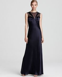 ABS by Allen Schwartz Gown - Sleeveless Illusion Top   Bloomingdale's