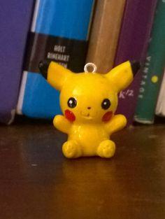 Pikachu Charm Polymer Clay Pikachu Pikachu by TheAdorkableShop