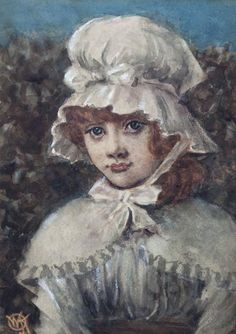 Mallams (Oxford) : Walter Knewstub (Britsih, 1830-1906)Portrait of girl, : Online Auction Catalogue