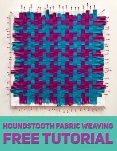 Most recent Pics ribbon weaving patterns Ideas Houndstooth Fabric Weaving (w/ video tutorial & product demo) – Mister Domestic Pin Weaving, Paper Weaving, Weaving Textiles, Fabric Weaving, Weaving Art, Weaving Patterns, Loom Weaving, Basket Weaving, Woven Fabric