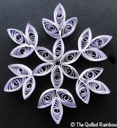 Quilled Gray Snowflake  Christmas Ornament by TheQuilledRainbow