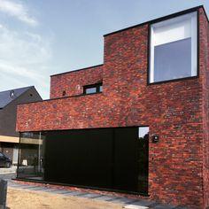 Billund Wasserstrich moderne woning Brick Works, Brick Facade, Interior Design Living Room, Modern Farmhouse, Bungalow, Building A House, House Design, Ramen, Outdoor Decor