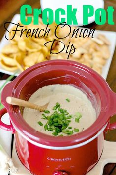 The Country Cook: Crock Pot French Onion Dip