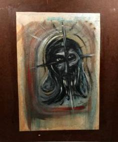 Early Original Oil Painting by Artist Roy Dimitri Parsons Year 1951 Redone 1963