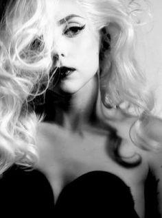 Lady Gaga. This is my Fav look of hers long flowing blonde locks
