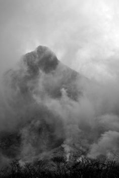Cloud and sulfur in Hakone, Japan. (Owen Schaefer)