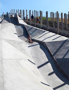 Play-Scape in Beringen, Belgium / Recreative Project be-MINE Landscape Architecture Design, Architecture Visualization, Urban Architecture, Beautiful Architecture, Modern Playground, Playground Design, Outdoor Playground, Cool Playgrounds, Outdoor Activities For Kids