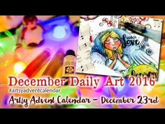 Artsy Advent Calendar by Andrea Gomoll - Cre8tive Cre8tions - December Daily Watercolor Illustrations