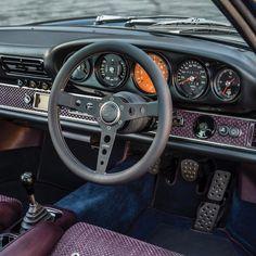 Interior of a right hand drive Singer Vehicle Design Porsche | LMX